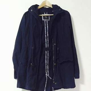 $20 CO Parka Jacket In Navy Blue (Size M)