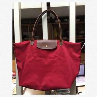 全新正品 Longchamp 經典紅色 《L size》