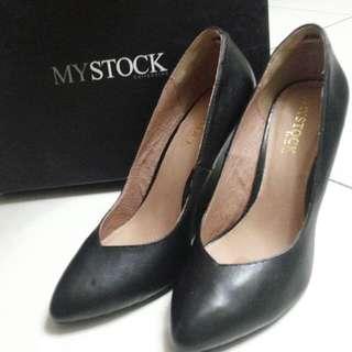 💥保留💥▶近全新◀MY STOCK 黑色高跟鞋 8/25/40號