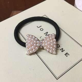 韓國氣質 蝴蝶結珍珠髮飾