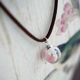 Flower Petal Globe Necklace