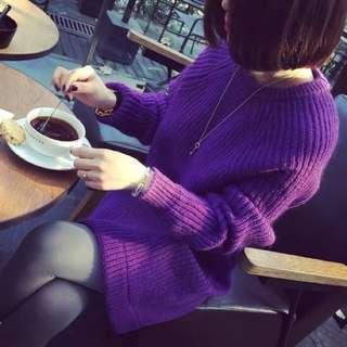 韓版圓領毛衣