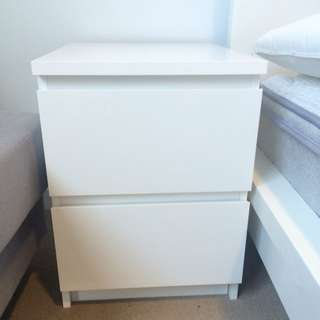 Bedside Table With 2 Drawers