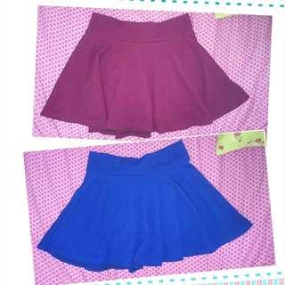 酒紅、寶藍傘裙