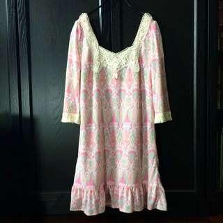 保留中)粉色系洋裝 /200含郵