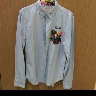 韓版花紋襯衫