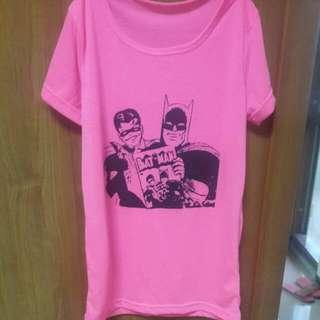 二手>可換可買>蝙蝠俠螢光色短袖