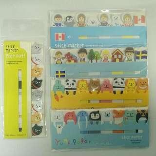 動物自黏便條紙Sticker Marker