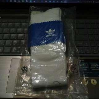 全新adidas襪子 長襪 粉色條紋