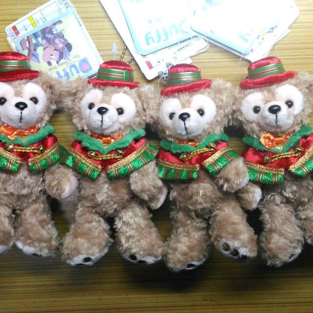 2015 日本迪士尼聖誕節限定 DUFFY 站姿吊飾