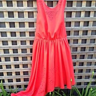 Lumier Dress Orange (size M)