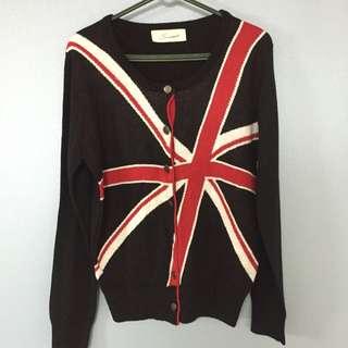 英國國旗針織外套