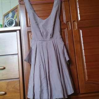 (保留)藕粉色雪紡傘裙