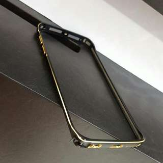 Metallic Black And Gold Trim S6 Edge Bumper