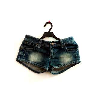 (免運) 刷色牛仔短褲
