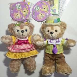 日本 迪士尼 2015 春巡 復活節 Duffy 達菲 ShellieMay 雪莉玫 站姿 1對 吊飾 春季 春節