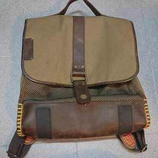 Timberland Leather Canvas Bag