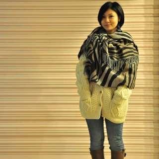 (二手)豹紋圍巾