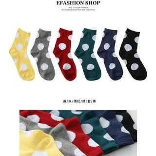 🆕大圓點襪-綠色🆙