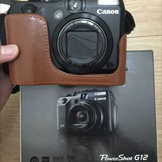 保留中二手Canon G12 類單眼(9.5幾近全新配件未拆)