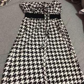 平口長版上衣 可當連身裙