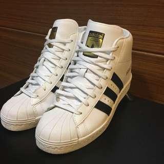 (二手)金標adidas內增高球鞋/附鞋盒/US6.5號