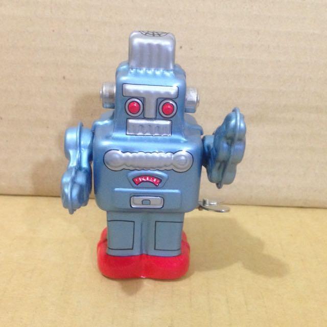 錫機器人,日製,發條玩具