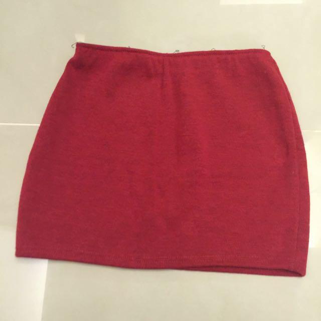 🔅正紅針織短裙🔅