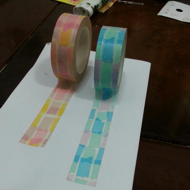 色彩拼貼 紙膠帶 分裝