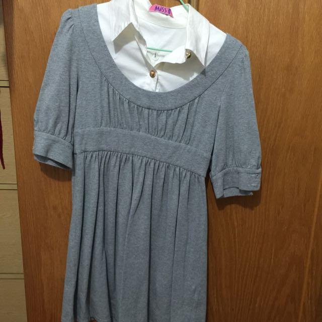 洋裝 假兩件 韓國帶回 二手