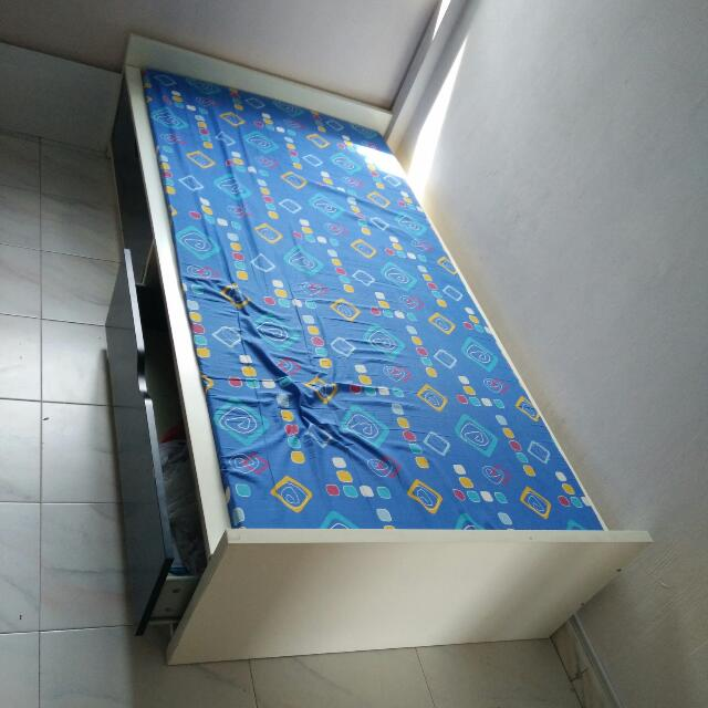 Bed Plus Mattress With Drawers