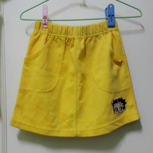 Betty   裙 黃色