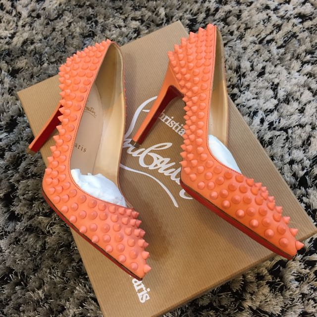 737b166e441 Authentic Christian Louboutin Mango Pigalle Spikes Heels