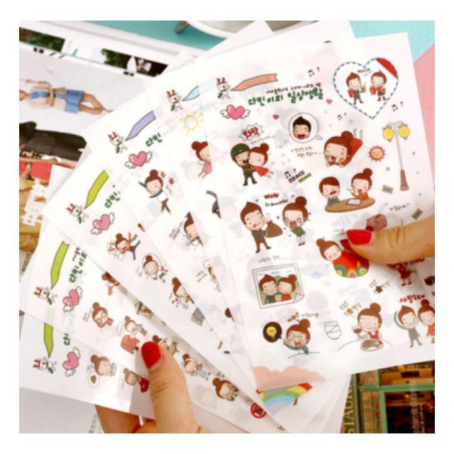 Korean sticker ( 6 sheets)