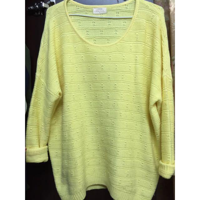 Lovfee 黃色針織毛衣