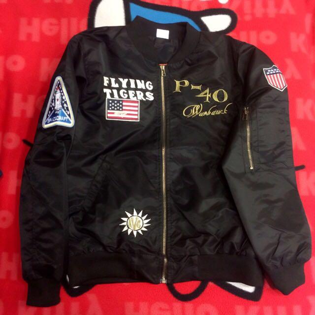 保留中 ♡ma1飛行空軍外套風衣(黑)