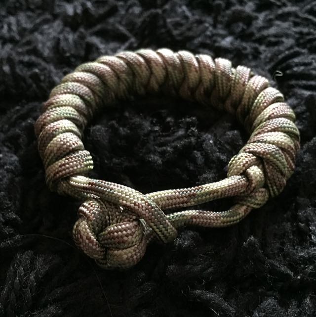 Military Paracord Bracelet With Monkey Fist Knot Everything Else On