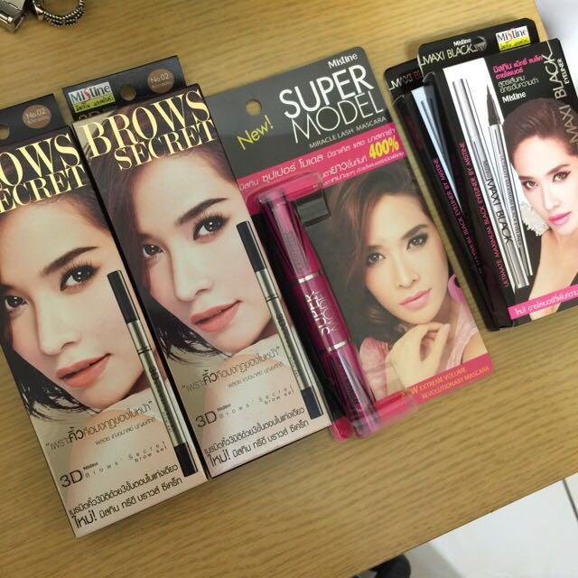Mistine泰國藥妝店帶回 不暈染極黑眼線液筆 肥眼皮救星 手殘也能輕鬆駕馭 3D眉筆