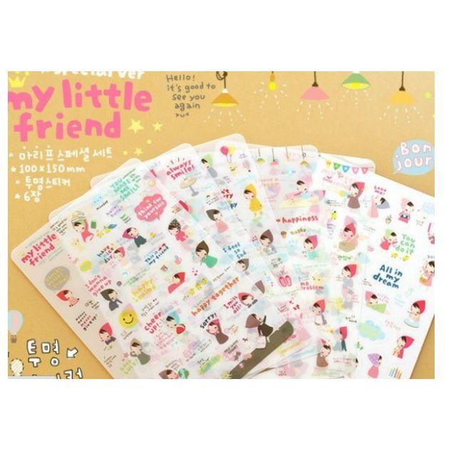 My Little Friend Korean stickers (6 sheets)