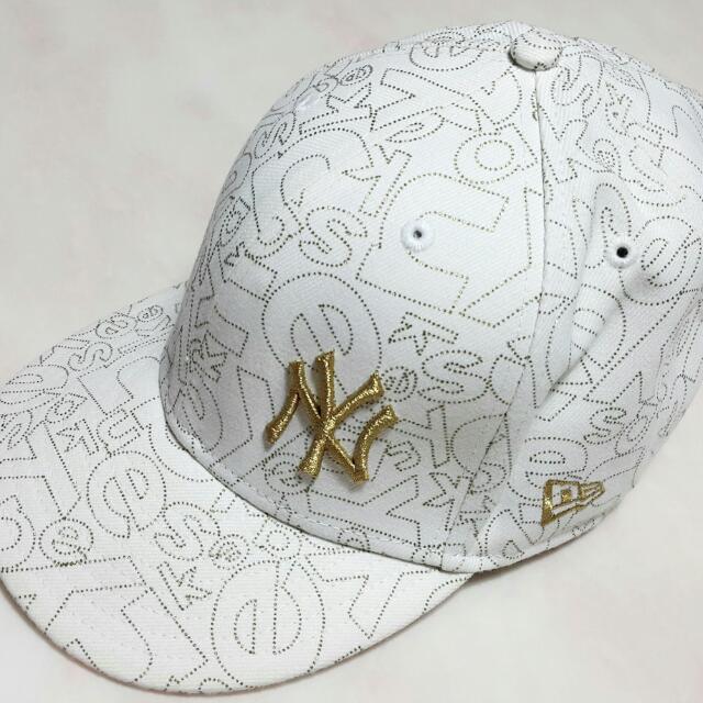 NY/紐約洋基隊 棒球帽 (白底金字)