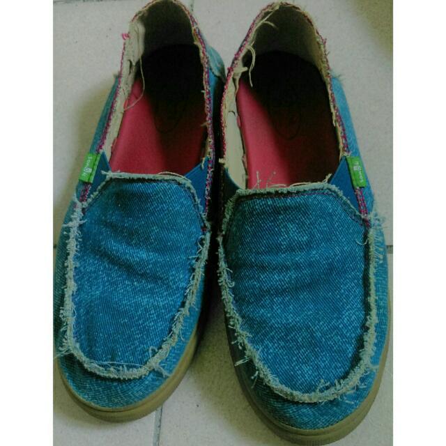 【Sanuk】免運✨藍色牛仔休閒鞋