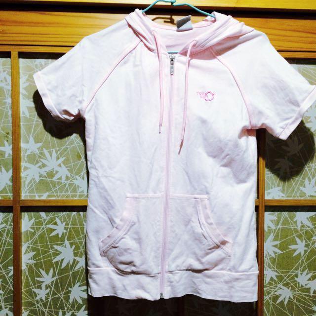 (特價!)(新)TopGirl淺粉色帽T拉鍊外套 #三百元外套