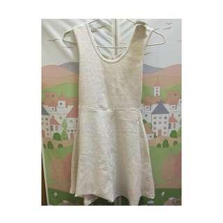韓國製 白色洋裝 含運