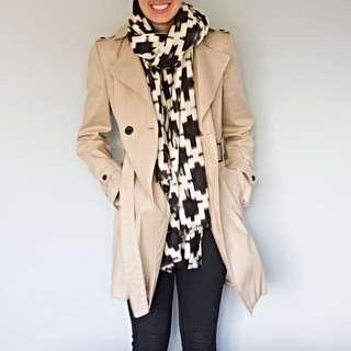 Oxford Cream Trench Coat