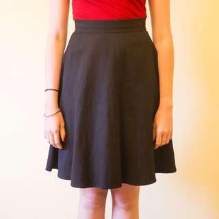 Gorman Black Knee Length Skirt
