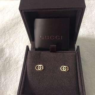 GUCCl 18K金經典GG耳環便宜賣