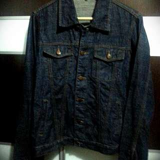(Reduced Price) Preloved Dark Blue Denim Jacket