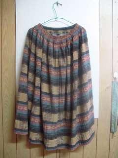 復古長圓裙