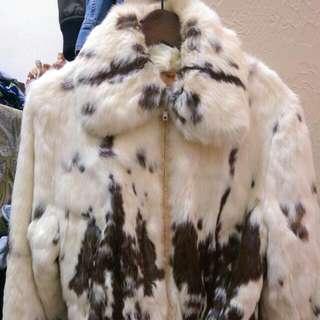 全兔毛騎士外套