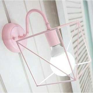 韓式簡約燈具 粉色